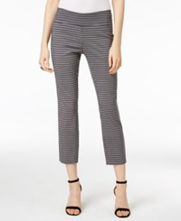 Alfani Cropped Jacquard Pants Only At Macy's Black White Print