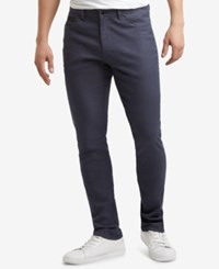 Kenneth Cole Reaction Brooklyn Slim Fit Stretch Twill Pants Navy