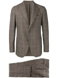 Gabriele Pasini Plaid Suit Jacket Brown