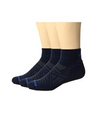 Smartwool Phd Outdoor Light Mini 3 Pack Deep Navy Black Crew Cut Socks Shoes Blue