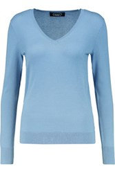 Magaschoni Silk And Cashmere Blend Sweater Light Blue
