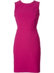 Nicole Miller Classic Pencil Dress Pink And Purple
