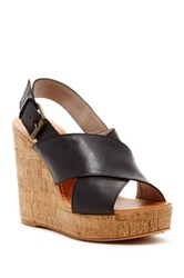 Hinge Hannah Wedge Sandal Black