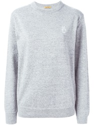 Peter Jensen Embroidered Logo Sweater Grey