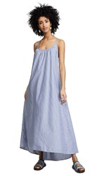 9Seed Tulum Maxi Cover Up Dress Striped Chambray