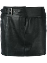 Versus Mini Skirt Women Lamb Skin Polyester 40 Black