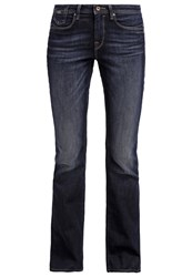 Edc By Esprit Bootcut Jeans Blue Dark Wash Dark Blue