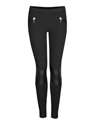 Dex Perforated Leggings Black