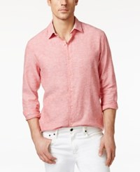 Tasso Elba Men's Resort Cross Dyed Long Sleeve Shirt Only At Macy's Mulberry Combo