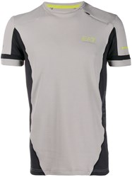 Emporio Armani Ea7 Contrasting Panels Sports T Shirt Grey