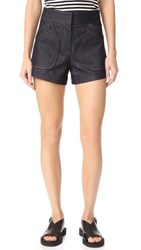 Derek Lam Patch Pocket Shorts Indigo