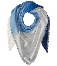 Tory Burch Ombre Oversized Square Jewel Blue Scarves