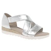 Gabor Promise Wide Sandals Silver