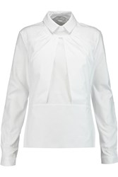 Michael Van Der Ham Mae Cotton Poplin Shirt White