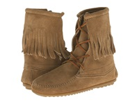 Minnetonka Tramper Ankle Hi Boot Taupe Suede Women's Pull On Boots