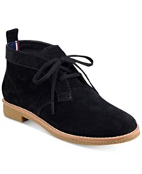 Tommy Hilfiger Blaze Lace Up Oxford Booties Women's Shoes Black
