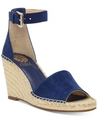 Vince Camuto Leera Espadrille Wedge Sandals Women's Shoes Moody Blue