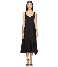 Sportmax Plutone Tea Length Sleeveless Dress Black Women's Dress