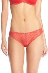 Women's Chantelle Intimates 'Merci' Tanga Thong Poppy Red