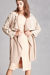 Forever 21 Belted Trench Coat Mauve
