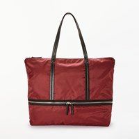 John Lewis Kin By Soren Tote Bag Burgundy