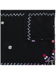 Temperley London Finale Embroidered Shawl Black