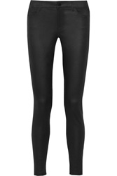 Vince Textured Stretch Leather Mid Rise Skinny Pants