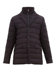 Herno La Giacca Quilted Down Jacket Navy