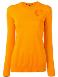 Proenza Schouler Long Sleeve Sweater Yellow Orange