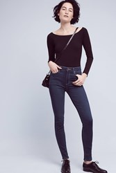 Anthropologie Paige Hoxton High Rise Skinny Jeans Denim Dark