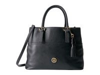 Tommy Hilfiger Summer Of Love Pebble Shopper Black Handbags