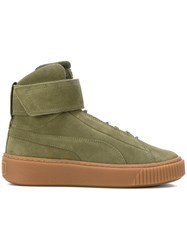 Puma Platform Mid Ow Wn's Sneakers Suede Polyester Rubber Green