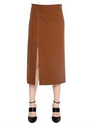 Nina Ricci Techno Blend Crepe Double Face Skirt