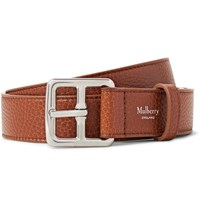 Mulberry 3Cm Brown Boho Full Grain Leather Belt Brown