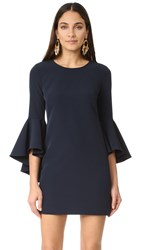 Milly Cady Bell Sleeve Dress Navy