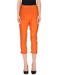Pinko Trousers 3 4 Length Trousers Women Orange