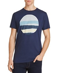 Vestige Ripped Circle Graphic Tee Navy