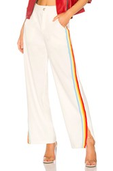 Central Park West Sandy Lane Striped Pant White