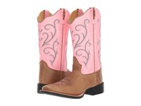 Old West Boots 18119 Tan Fry Pink Cowboy Brown