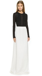 Narciso Rodriguez Washed Silk Gown Black White
