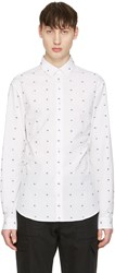 Mcq By Alexander Mcqueen White Googe Swallows Shirt