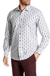 1 Like No Other Long Sleeve Woven Striped Classic Fit Shirt White