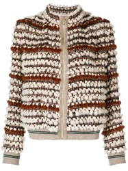 Cara Mila Hailey Knitted Mink Jacket Brown