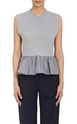 Harvey Faircloth Women's Peplum Top Grey