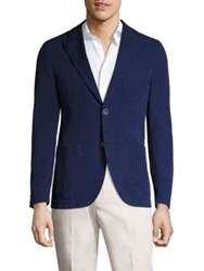 Saks Fifth Avenue X Traiano Solid Two Button Jacket Blue