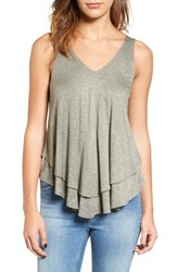 Soprano Women's Layered Swing Tank Cedar