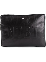 Wood Wood 'Ntbt' Laptop Bag Black