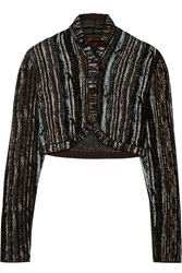 Missoni Metallic Crochet Knit Shrug