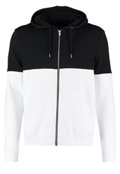 Your Turn Tracksuit Top Black White