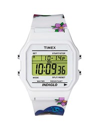 Timex 80 T2n550 Tattoo Case Watch White